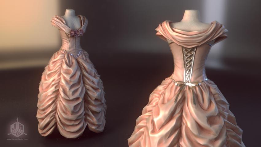 A fancy ball dress