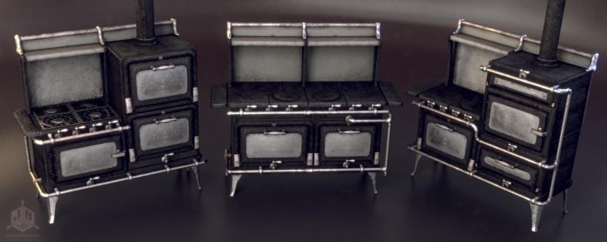 Early twentieth century era kitchen stoves
