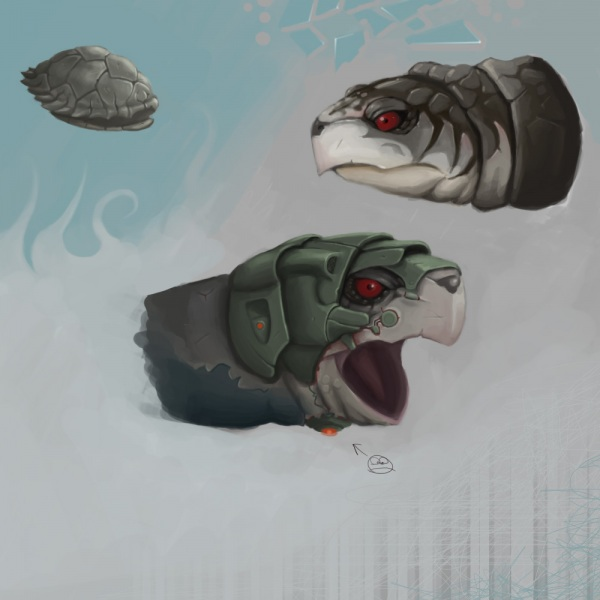 Turtle heads designs