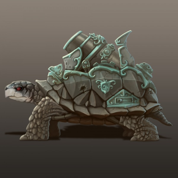 The final design for my Turtle Tank creature.