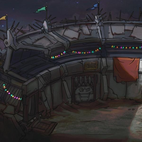 Environment Design: Scrapheap Arena 3