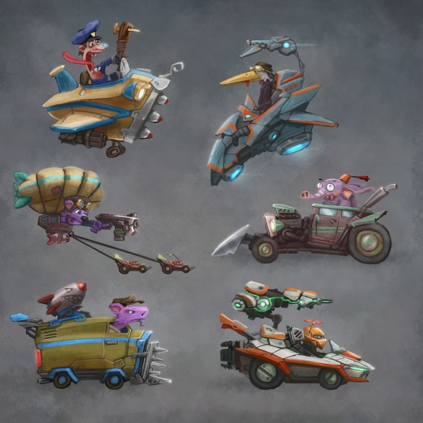 Some designs for a silly 2d racegame which never came to fruition.