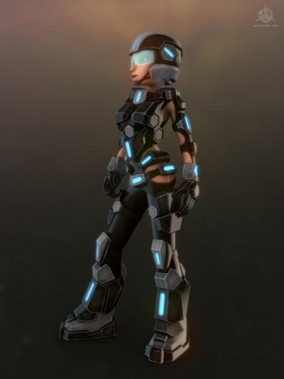 The Hero in her Tactical Armor