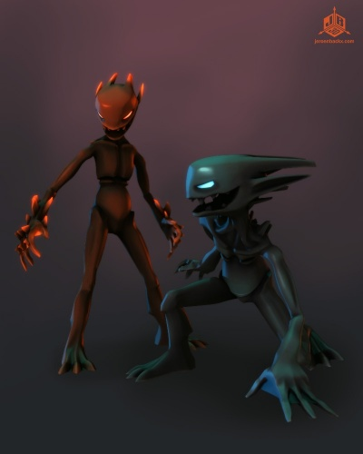 Fire Imp and Shadow Imp