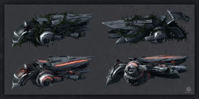 Crashed Spaceships