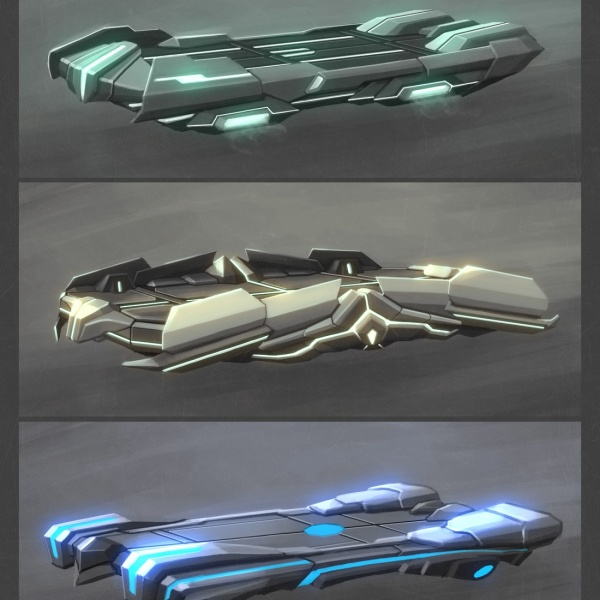 Different variations of a high-tech sled which can be used in the game
