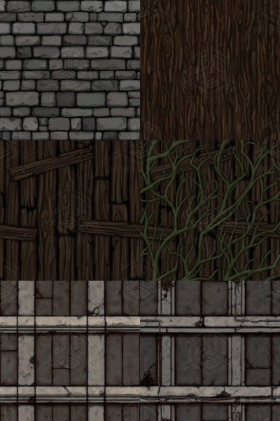 Hand drawn tiling textures