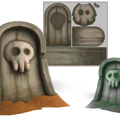 Modest stone grave