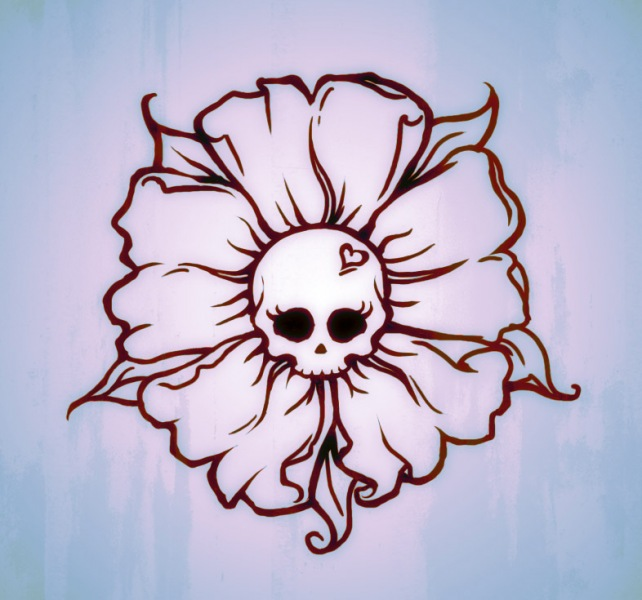 A skullflower tattoo design commission
