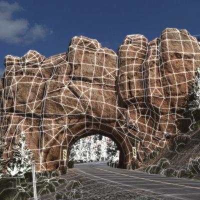 canyon road wireframe