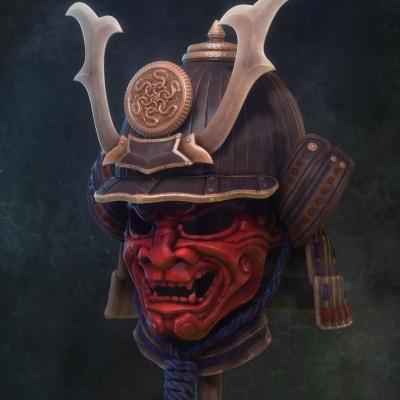 Samurai Mask and Helmet