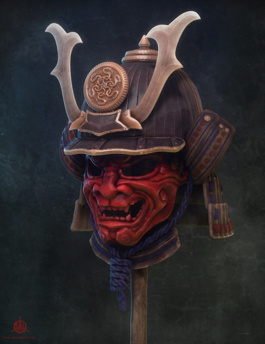 Samurai Mask and Helmet