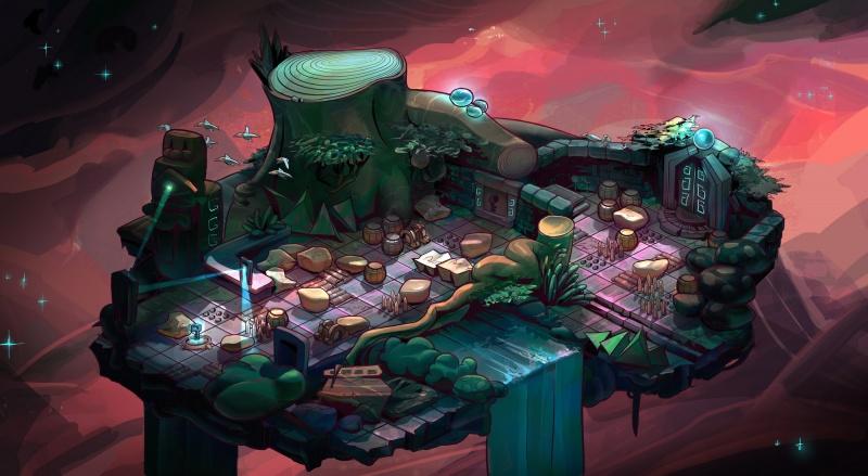 Environment Style Design 2d: Dreamscape - Line art by Thomas Visscher. Colors by me.