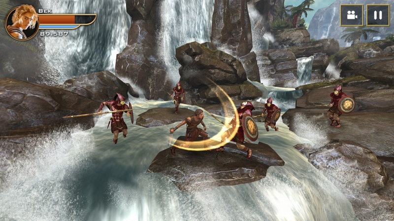 Gods of Egypt - Bek fighting