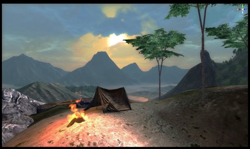 Kong Skull Island 1 - Campsite at sundown